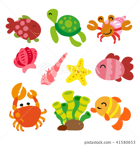 Sea animals collection 41580653