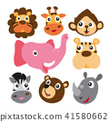 Cute animals collection 41580662