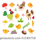 Chicken vector character design 41580758