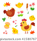chicken vector character design 41580767