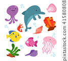 ocean animals collection design 41580808