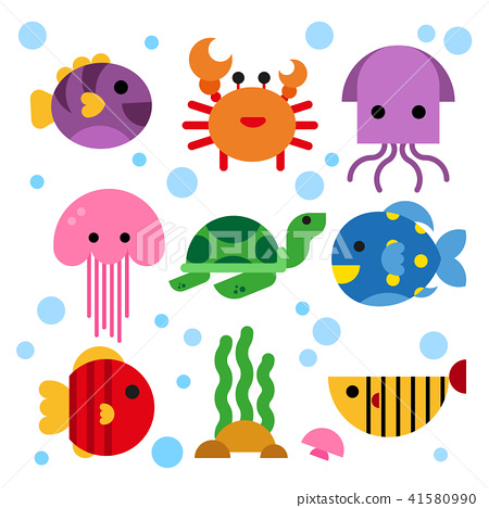 ocean animals collection design 41580990