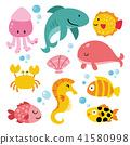 ocean animals collection design 41580998