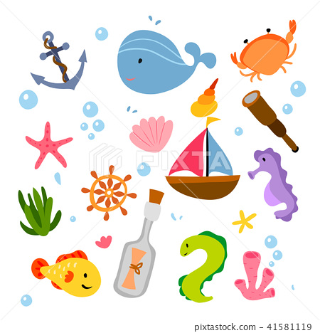 ocean animals collection design 41581119