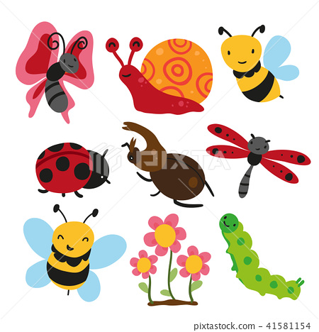 bugs collection, insect vector design 41581154