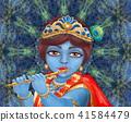 Shri Krishna playing the flute. Happy Janmashtami 41584479