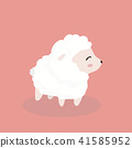 Cute sheep in flat style on pastel background. 41585952