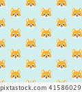 Shiba inu seamless pattern. 41586029