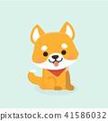 Vector illustration of cute Shiba Inu dog.  41586032