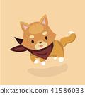 Vector illustration of cute Shiba Inu dog.  41586033