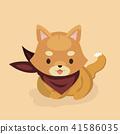 Vector illustration of cute Shiba Inu dog.  41586035