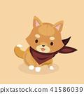 Vector illustration of cute Shiba Inu dog.  41586039
