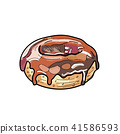 Donut vector.(hand draw style) 41586593