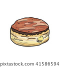 Donut vector.(hand draw style) 41586594