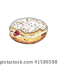 Donut vector.(hand draw style) 41586598