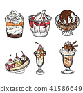 Set of colorful tasty isolated ice cream. 41586649