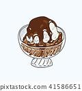 Ice cream Hand writing cartoon. 41586651