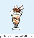 Ice cream Hand writing cartoon. 41586652