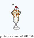 Ice cream Hand writing cartoon. 41586656