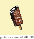 Vector of a Popsicle on pastel background. 41586699