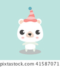 Cute Polar Bear in top hat. 41587071