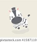 zebra, vector, character 41587110