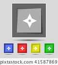 Ninja Star, shurikens icon sign on original five c 41587869