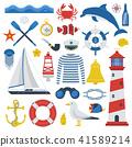 Sea Icon Set 41589214