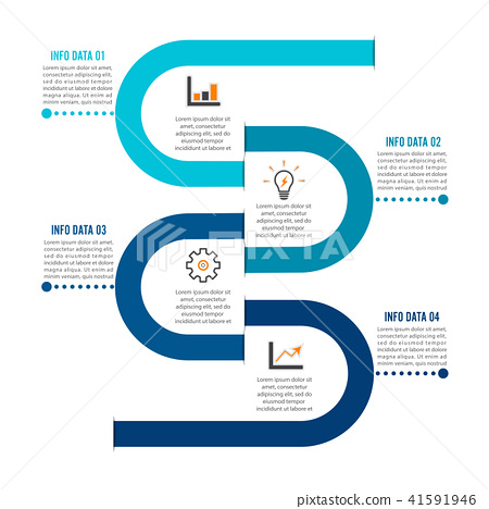 Template Timeline Infographic colored horizontal 41591946