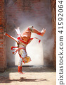 Hanuman somersault in Traditional Thai Pantomime 41592064