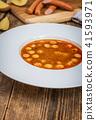 Frankfurt soup with sausage 41593971