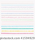 Set Of Colorful line grunge hand drawn textures. 41594929