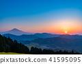"""""""จังหวัดชิสุโอกะ"""" มุมมองตอนเช้าของภูเขาฟูจิ 41595095"""