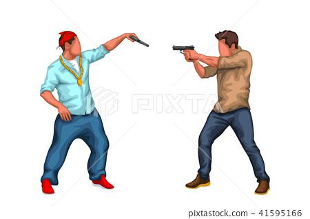 gangster vs police 41595166