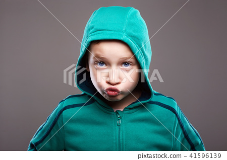 child boy.funny grimace emotion kid 41596139