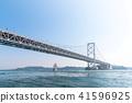 สะพาน,ท้องฟ้าเป็นสีฟ้า,เรือ 41596925