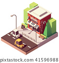 vector, shop, music 41596988