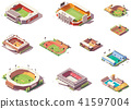 Isometric, vector, stadium 41597004