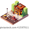 Vector isometric pet store 41597011