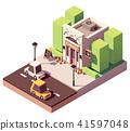 Vector isometric flower shop 41597048