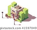 Vector isometric flower shop 41597049