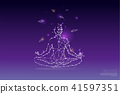 The particles, polygonal, geometric art - Yoga 41597351