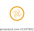 Agriculture wheat Logo  vector icon design app 41597802