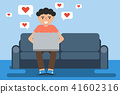 couch, love, boy 41602316
