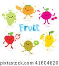 Cute Fruit Cartoon Vector 41604620