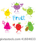 Cute Fruit Cartoon Vector 41604633