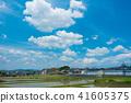 푸른 하늘, 파란 하늘, 구름 41605375