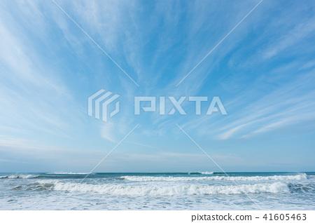 藍天天空雲彩海沙灘背景背景材料 41605463