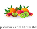 melon apple fruit on white background, healthy lifestyle or diet concept, logo for fresh fruits 41606369