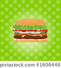 hamburger street festival, fast food menu seamless pattern background cooking collection concept 41606446